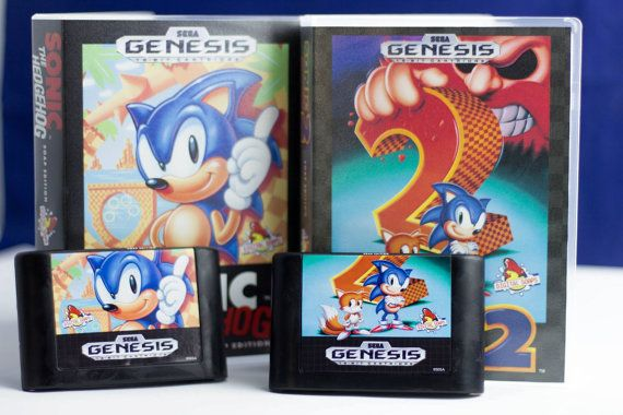 Sonic The Hedgehog Soap Set Of Cartridges And Cases Officially Licensed By Sega Sonic The Hedgehog Soap
