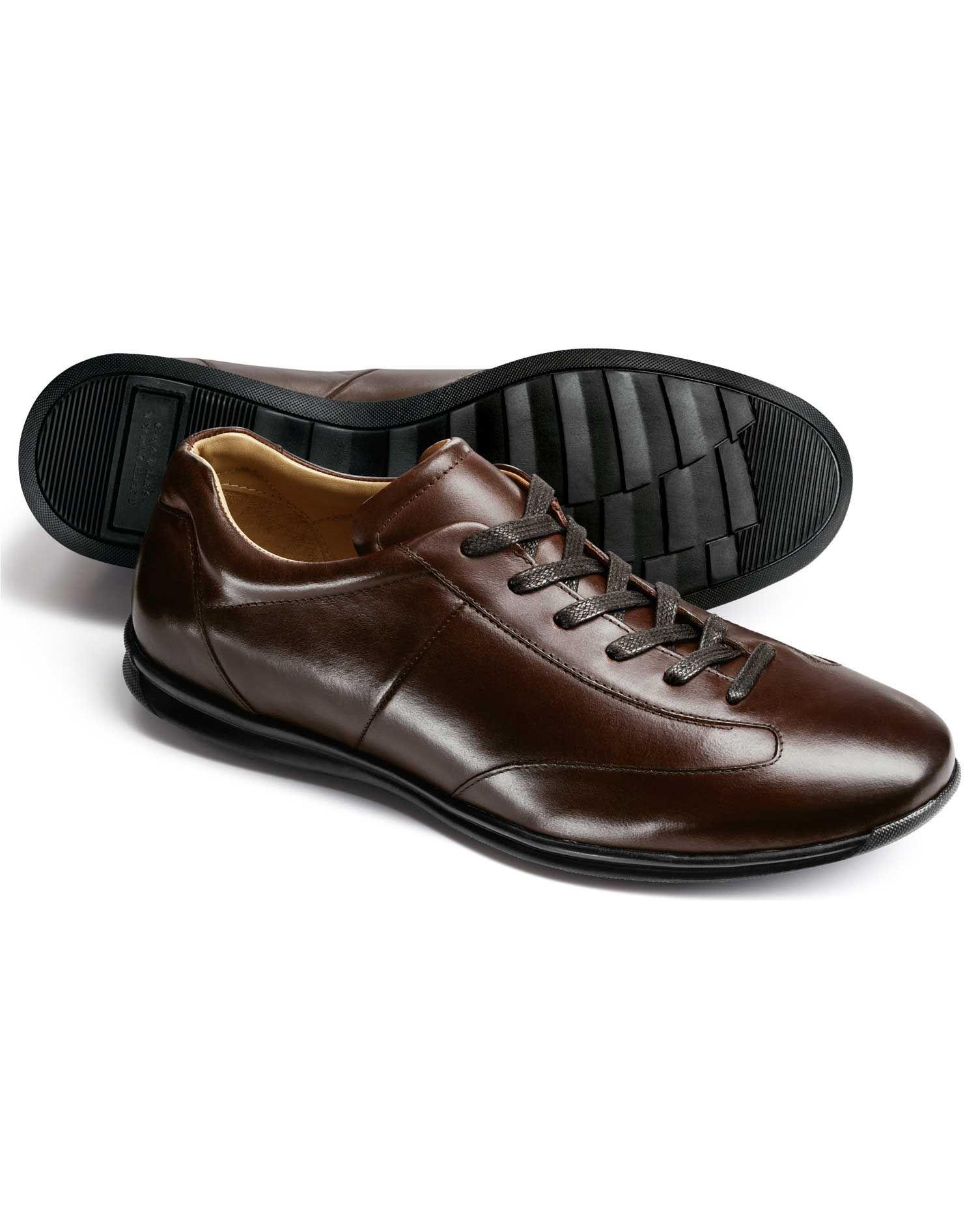 Brown Lansdowne trainers | Business casual sneakers, Work