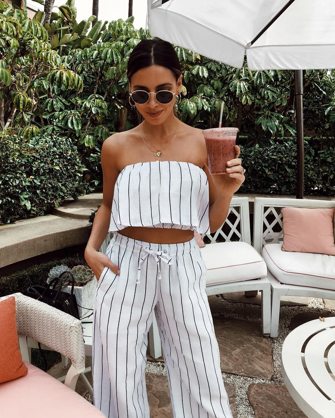 Matching striped separates