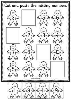 Christmas Math And Literacy Fun Freebie Christmas Literacy Christmas Kindergarten Christmas Math Worksheets