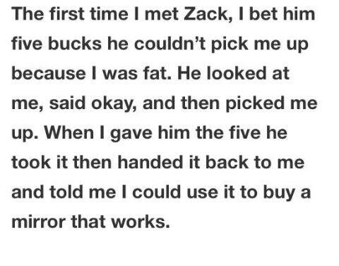 I love Zack so much.
