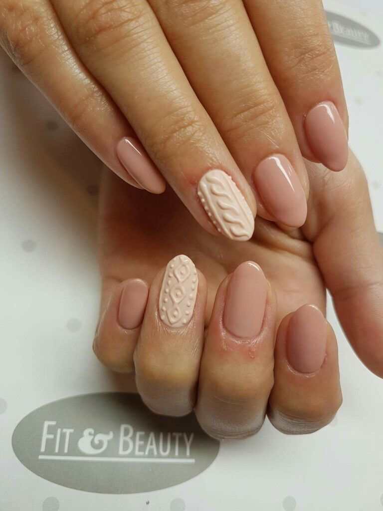 Image By Magda Jaro On Nails Knitted Manicure Paznokcie Ladne