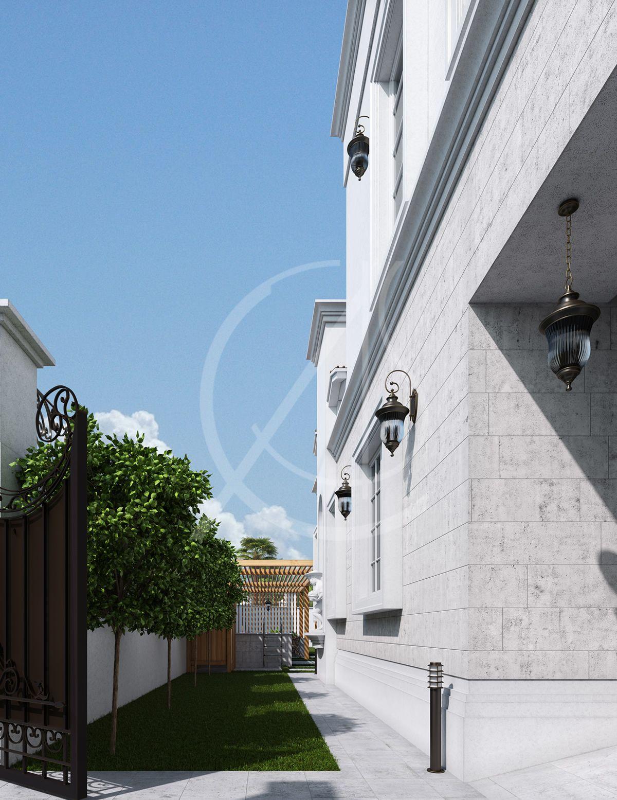 Classic Saudi Arabian Villa Exterior Design And Landscape Design Exterior Design Modern Landscape Design Mountain Home Exterior