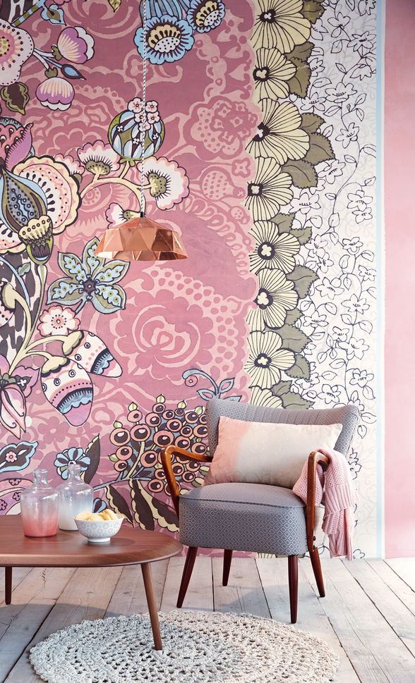 Tiger Blush Floral Patchwork | Stylyze - StyleBoard | Wallpapers ...