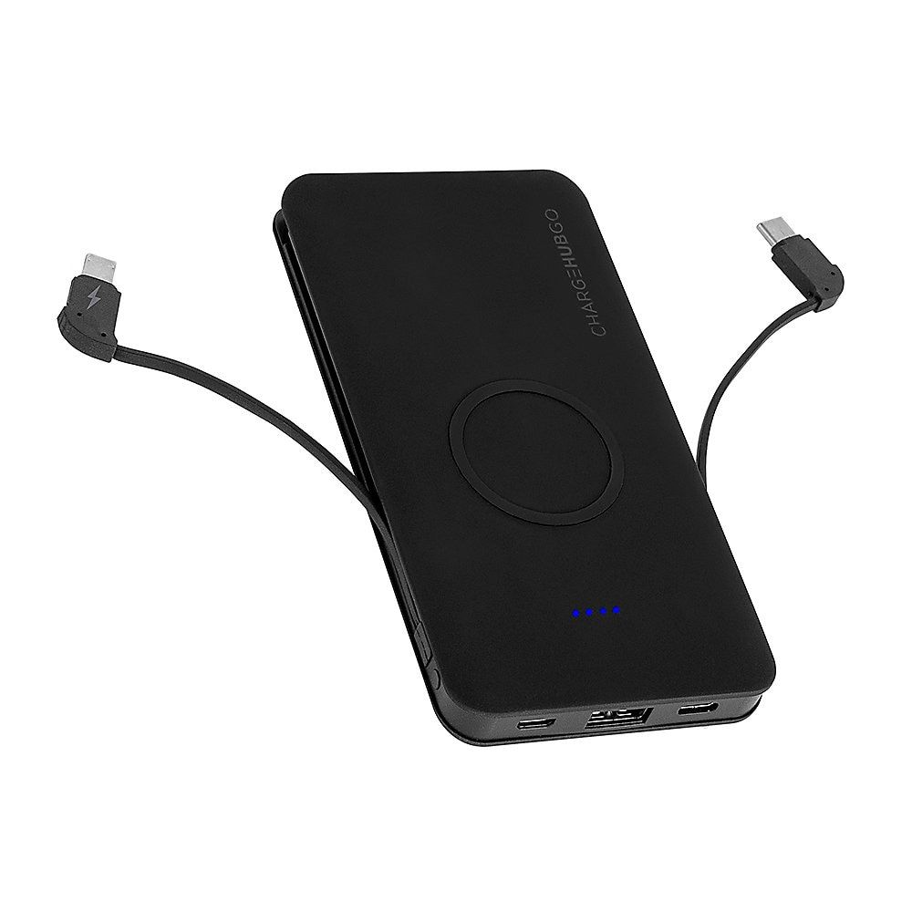 Chargehub Go Powerbank With Wireless Charging Pad Black Crg Wpb
