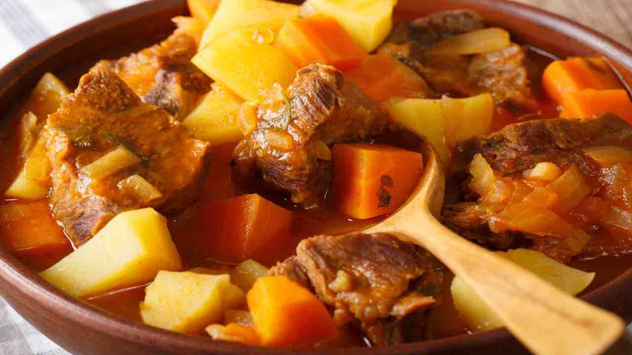 Photo of The meat stew with stewed potatoes is a second dish …