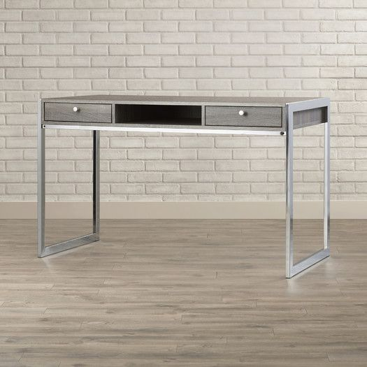 Features Finish Weathered Grey Chrome And Matte Finished Back Yes Fully Extendable No Metal Glid Solid Wood Writing Desk Wood Writing Desk Desk