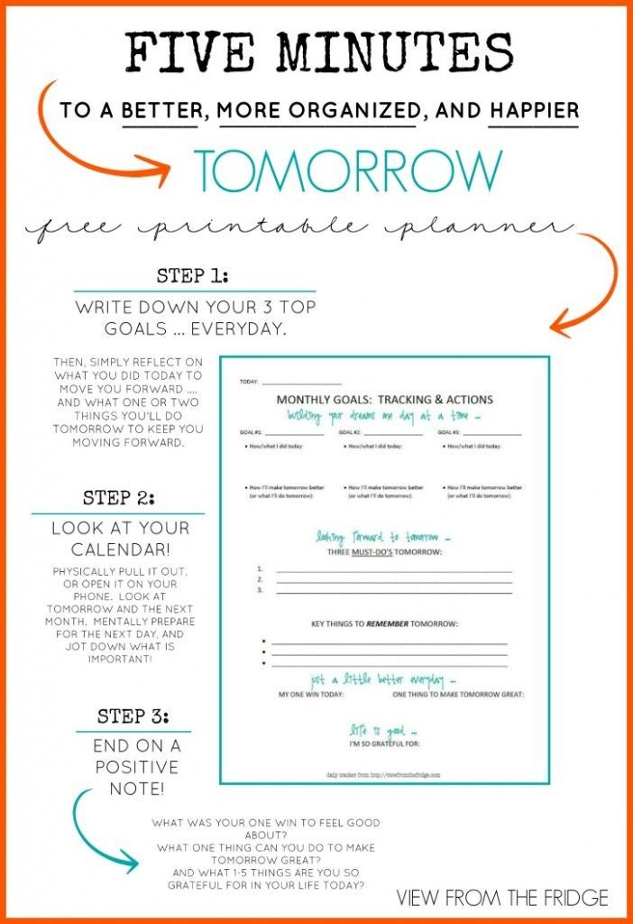 customizable daily planner free printable simple organized