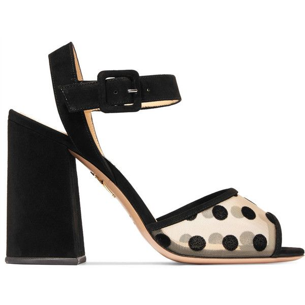 Versus Black Suede Dot To Dot Sandals e503o2Sjl