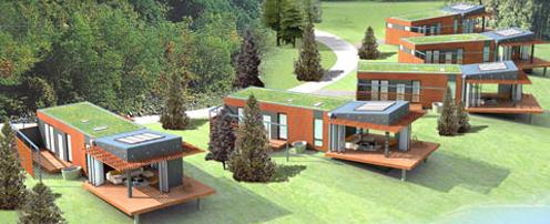 Modern Green Pre-Fab Homes #fab