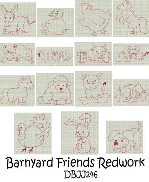 Embroidery Designs   Free Machine Embroidery Designs   JuJu Barnyard ...