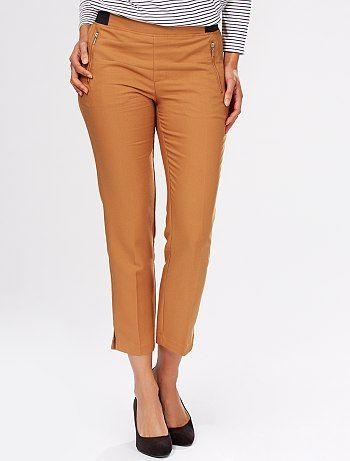 f6f826a3f4 Pantalón capri con cintura elástica Mujer a 12