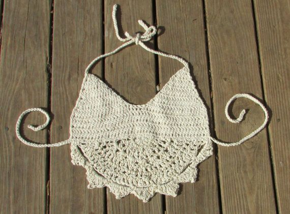 Ready to ship Festival Crochet Top  spring summer by FoxRunDrive, $25.00