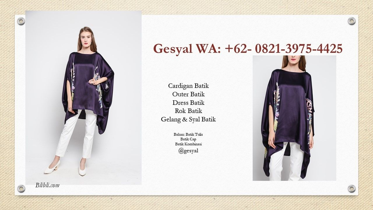Batik Cardigan Panjang Tanpa Lengan Model Cardigan Batik Tanpa L