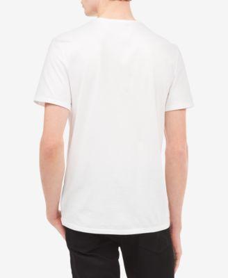 efe32796c Calvin Klein Jeans Men's Ck Vertical Lines Logo-Print T-Shirt - White 2XL