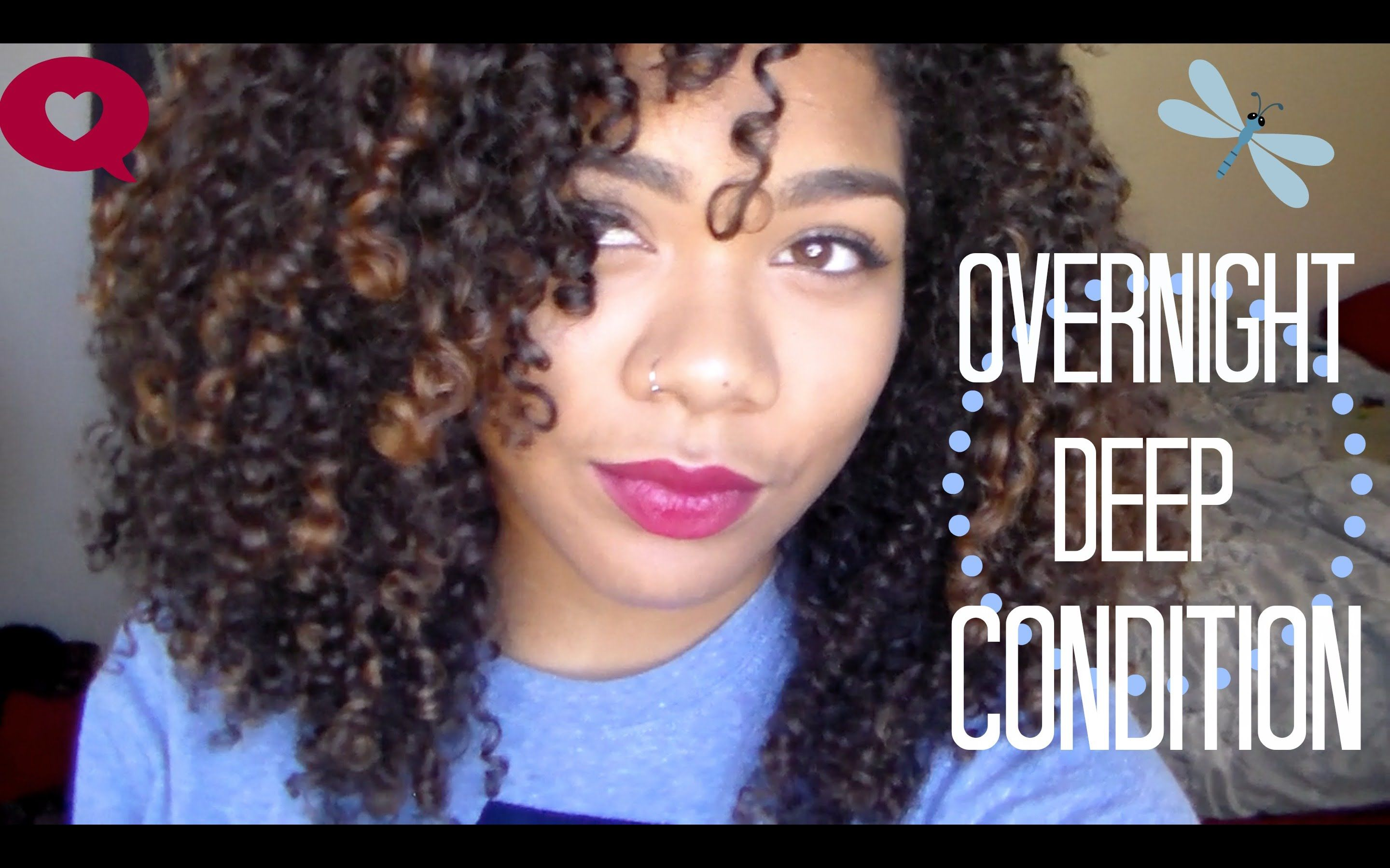 Overnight deep condition detangling made easy natural hair