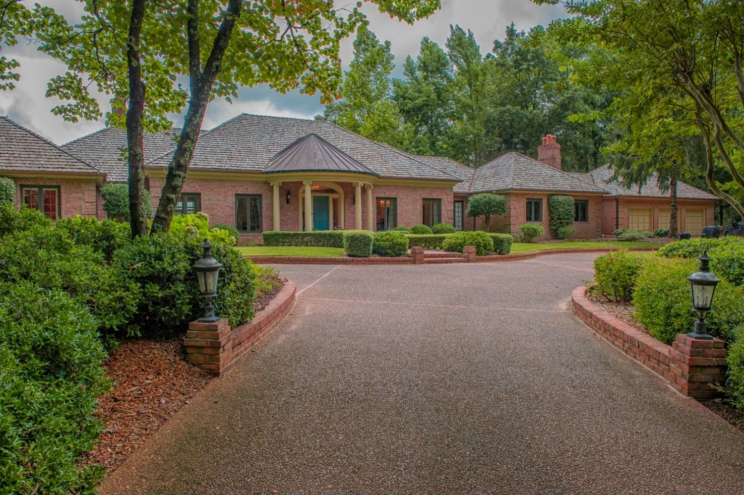 Stunning 3 BR, 4.5 BA, 6,200+/- sq. ft.  home with foyer, LR, DR, family room, sun room, fabulous outdoor areas, reflecting pool & breathtaking views on 3+/- acres.