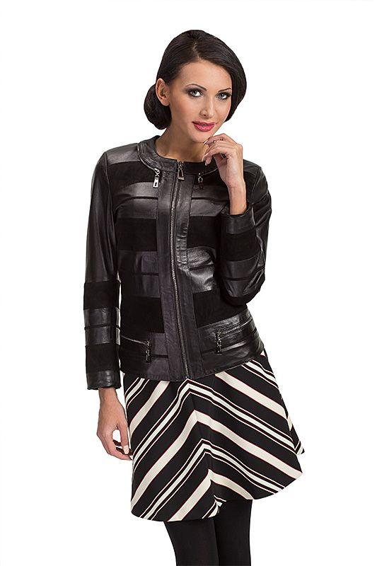 7db055695b7c34 leather jacket, kurtka skórzana, polska marka, polish brand, verssen, woman  outfit