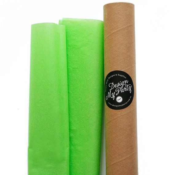 Green Apple Tissue Paper 40 Sheets by DesignMyPartyShop on Etsy