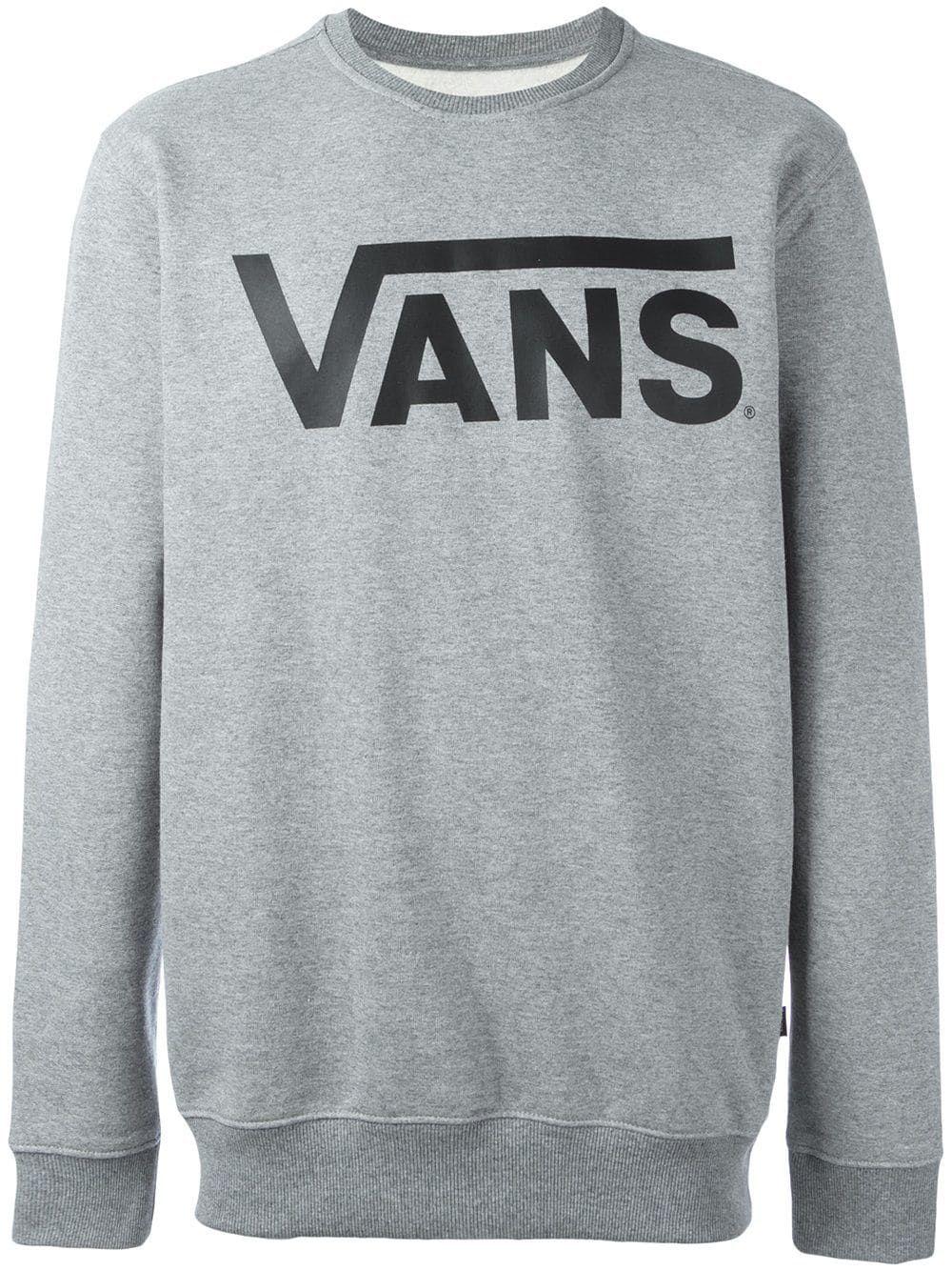 9ef985c2 VANS VANS LOGO PRINT SWEATSHIRT - GREY. #vans #cloth ...