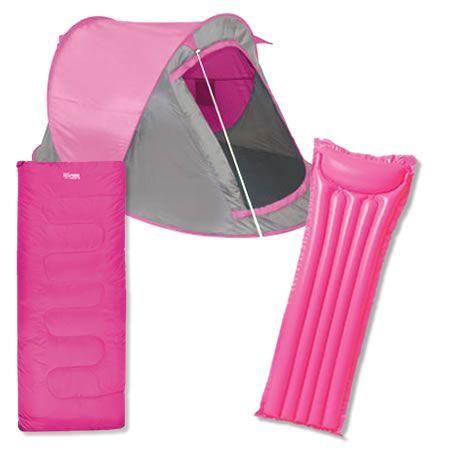 huge discount 7af13 6f435 hot pink tent | ... pink camping set all your essential ...