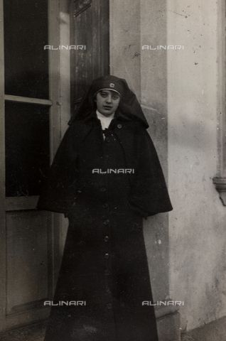 First World War in Italy: portrait of nurse Elena Bianconcini villa Brazza, home to 17 of the Hospital of war Soleschiano Manzano