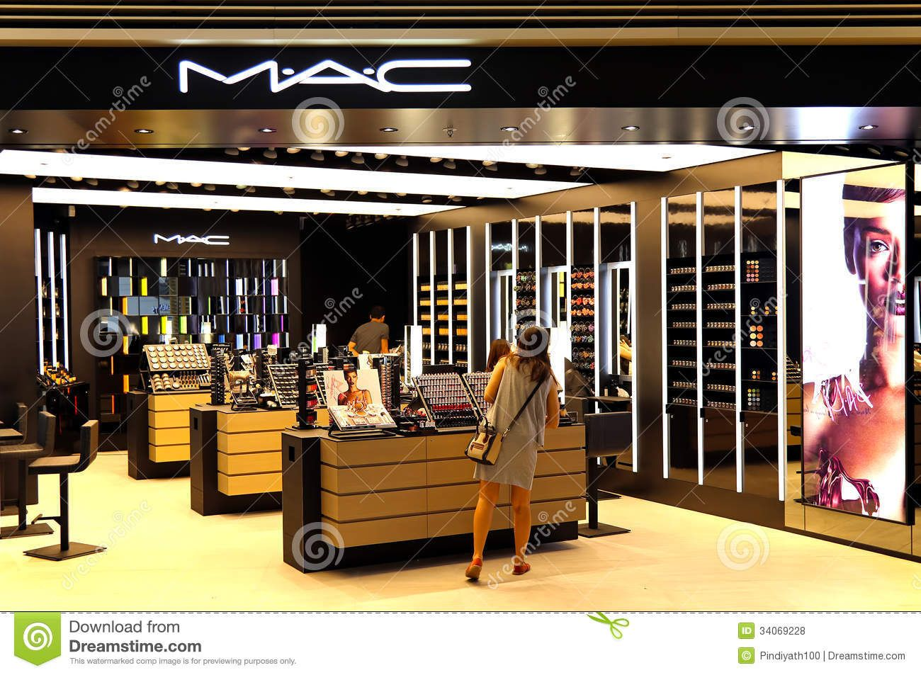 Mac Cosmetics Store Display Mac cosmetics outlet editorial