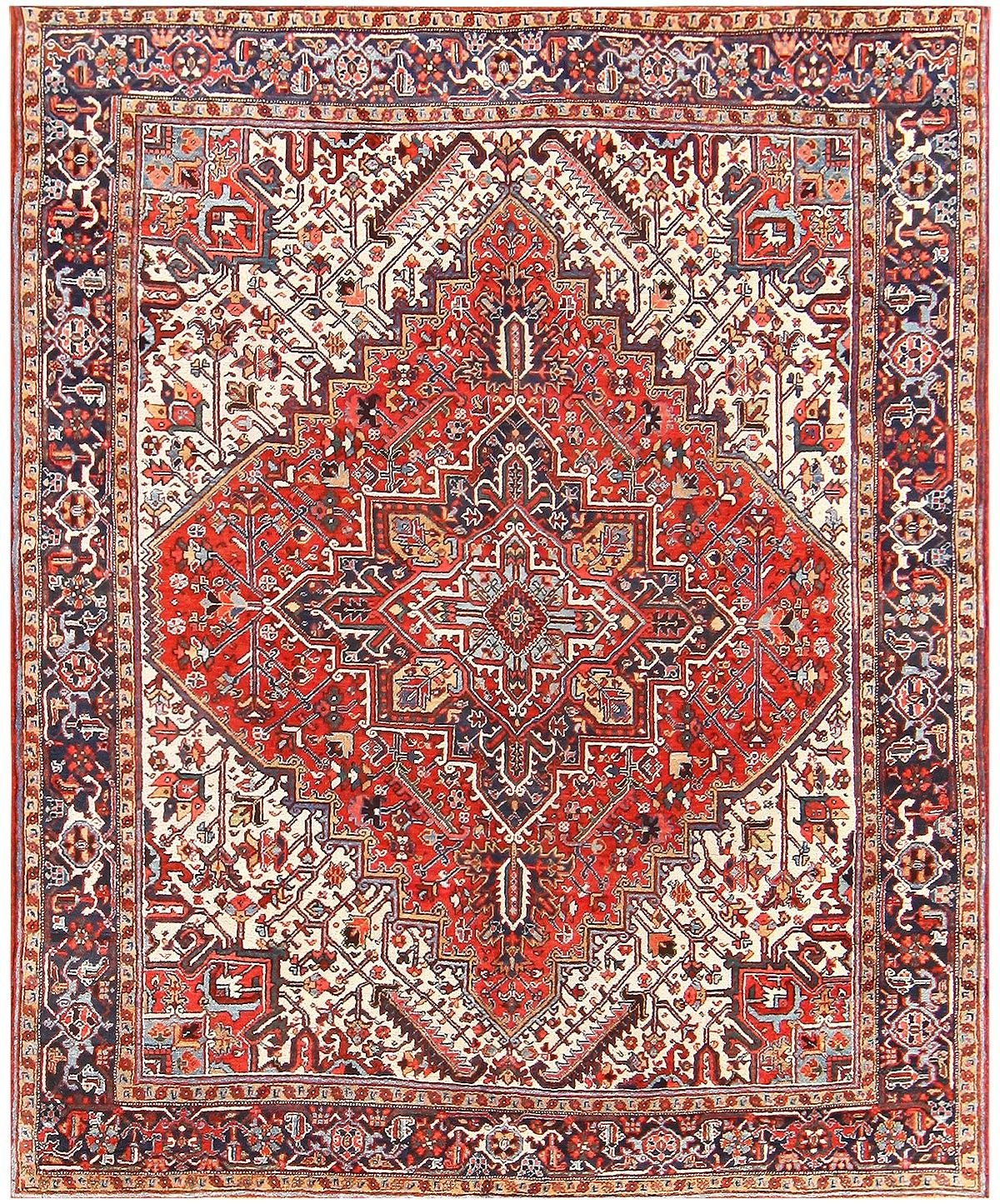 Teppich Auf Englisch Carpet Antique Persian Heriz Rug 48313 By Nazmiyal Carpet