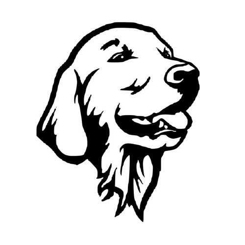 Golden Retriever Die Cut Decal Car Window Wall Bumper Phone Laptop