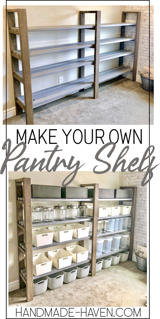 DIY Pantry Shelf #pantryshelving