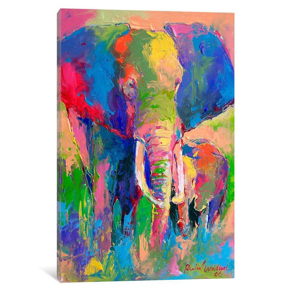 Icanvas elephant by richard wallich canvas print