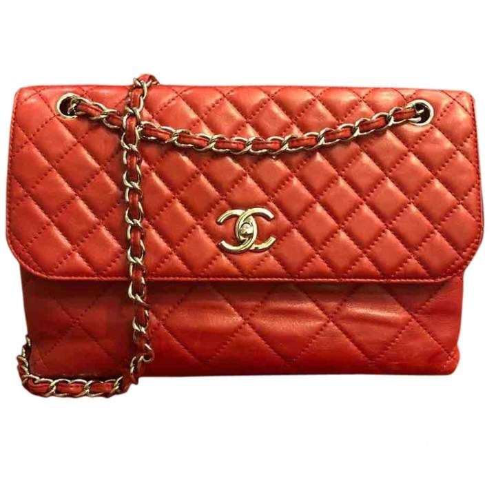 c2b101586362 Chanel Red Rouge Quilted Caviar Leather Jumbo Classic 2.55 Double Flap Bag  | Bags & Clutches in 2019 | Chanel handbags, Bags, Red bags