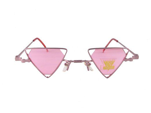 cc4e9fe9f12 Gothic Steampunk Diamond Shaped Lens Triangle Sunglasses (Pink ...