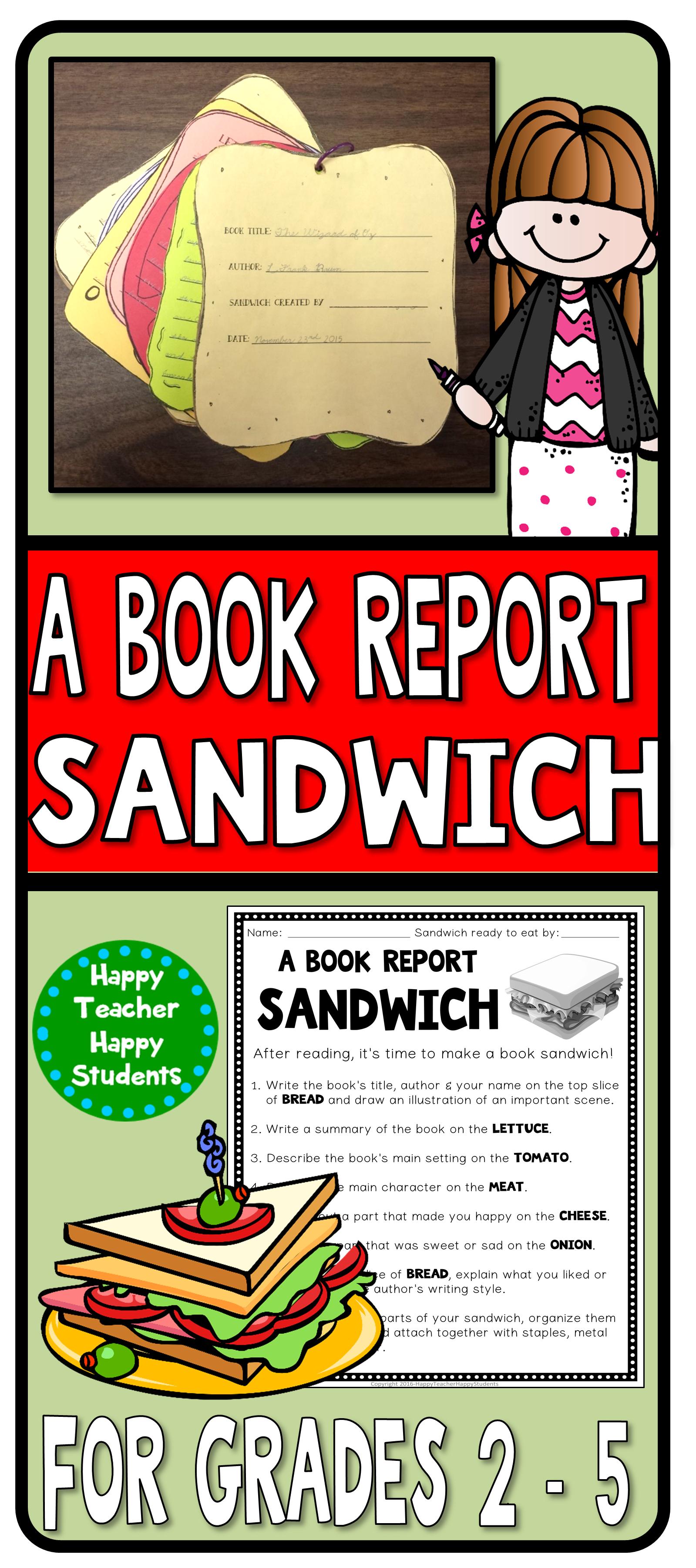 Book Report Sandwich 7 Layer Sandwich Book Report
