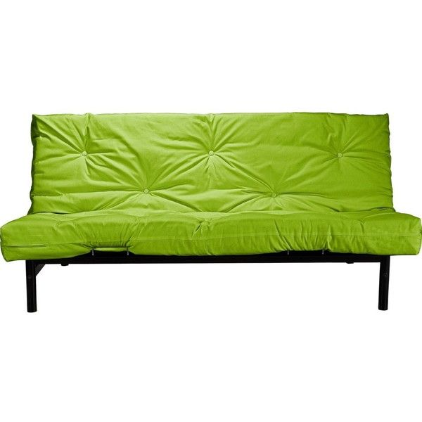Colourmatch Clive 2 Seater Futon Sofa Bed Le Green Liked On Polyvore Featuring Home