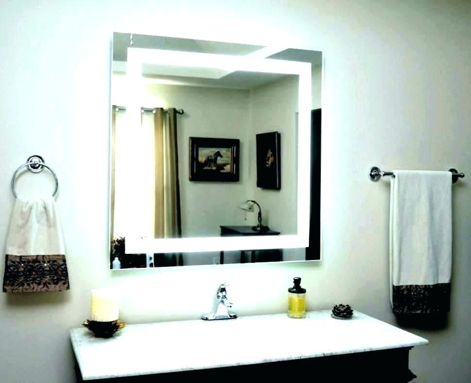 Illuminated Wall Mirrors For Bathroom Design Ideas Large Mirrors