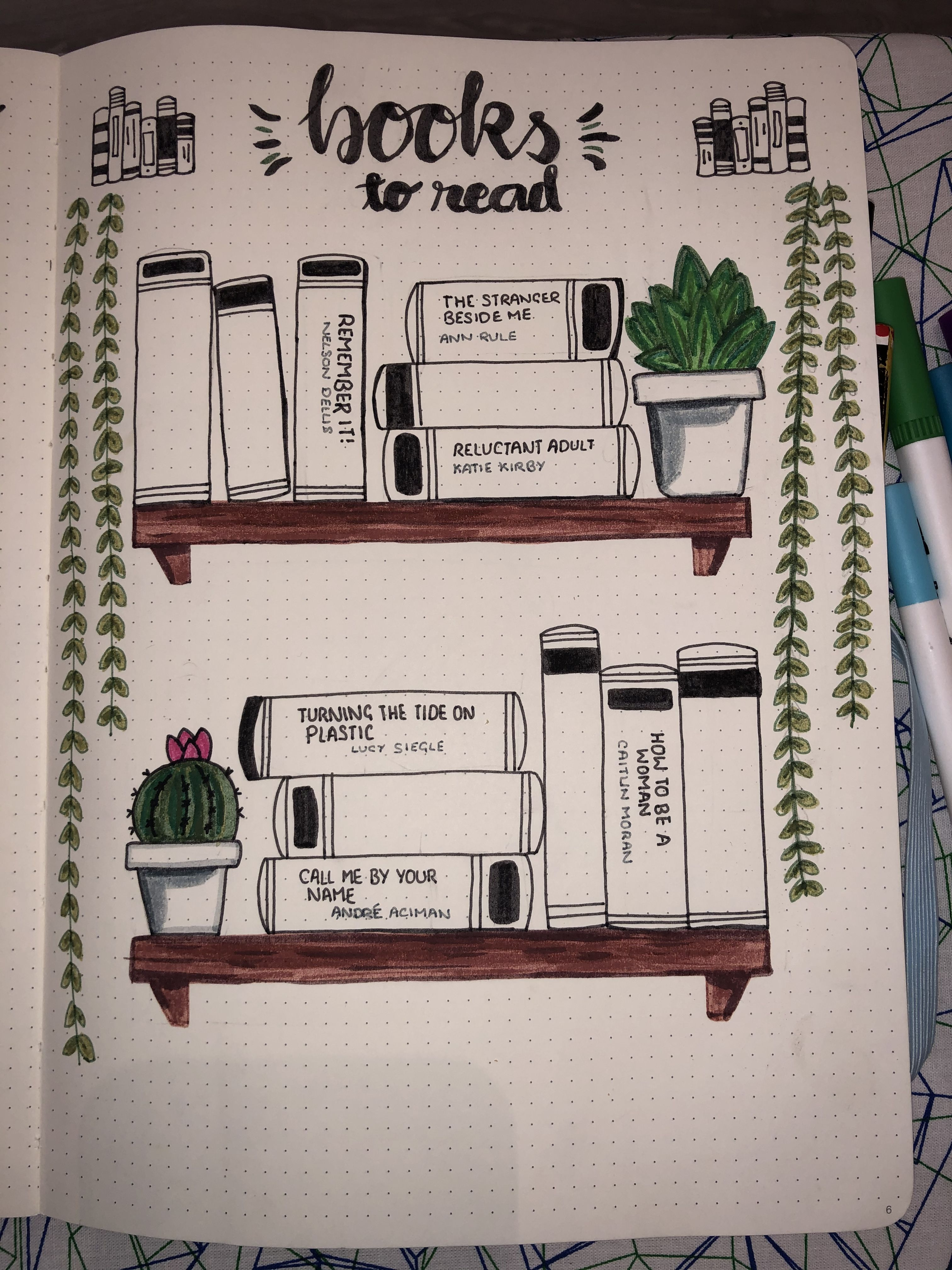 books to read • bullet journal