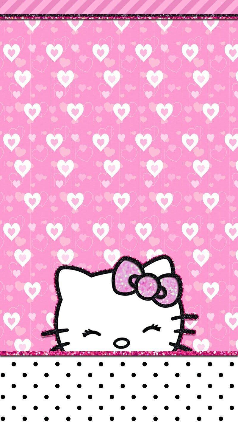 Love Wallpaper Hello Kitty Background Di 2020