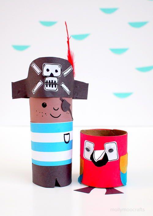 Pirate Paper Roll Craft   AllFreeKidsCrafts.com