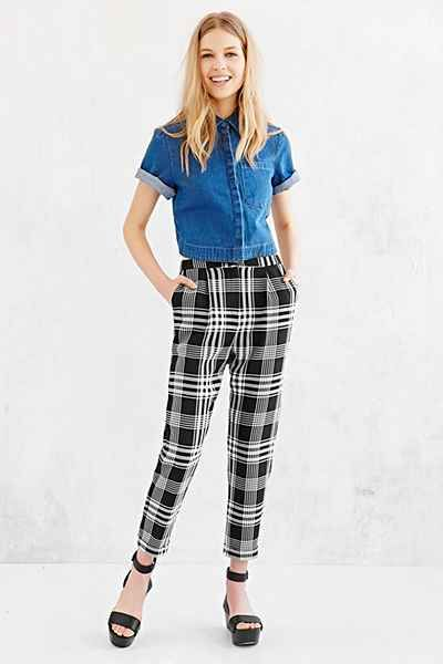 Cooperative Skinny Check Trouser Pant - Urban Outfitters