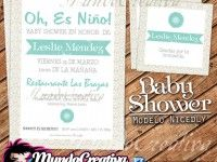 :: Cute Invitaciones para Baby Shower :: Modelo NICEDLY ::