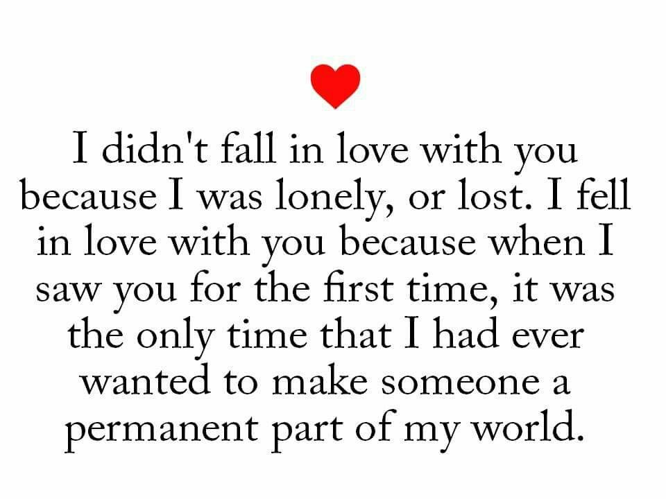 the first time you fall in love