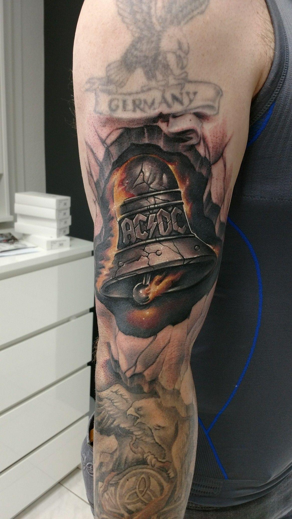b54206ffe2 AC DC Tattoo Hells Bells Hard Rock