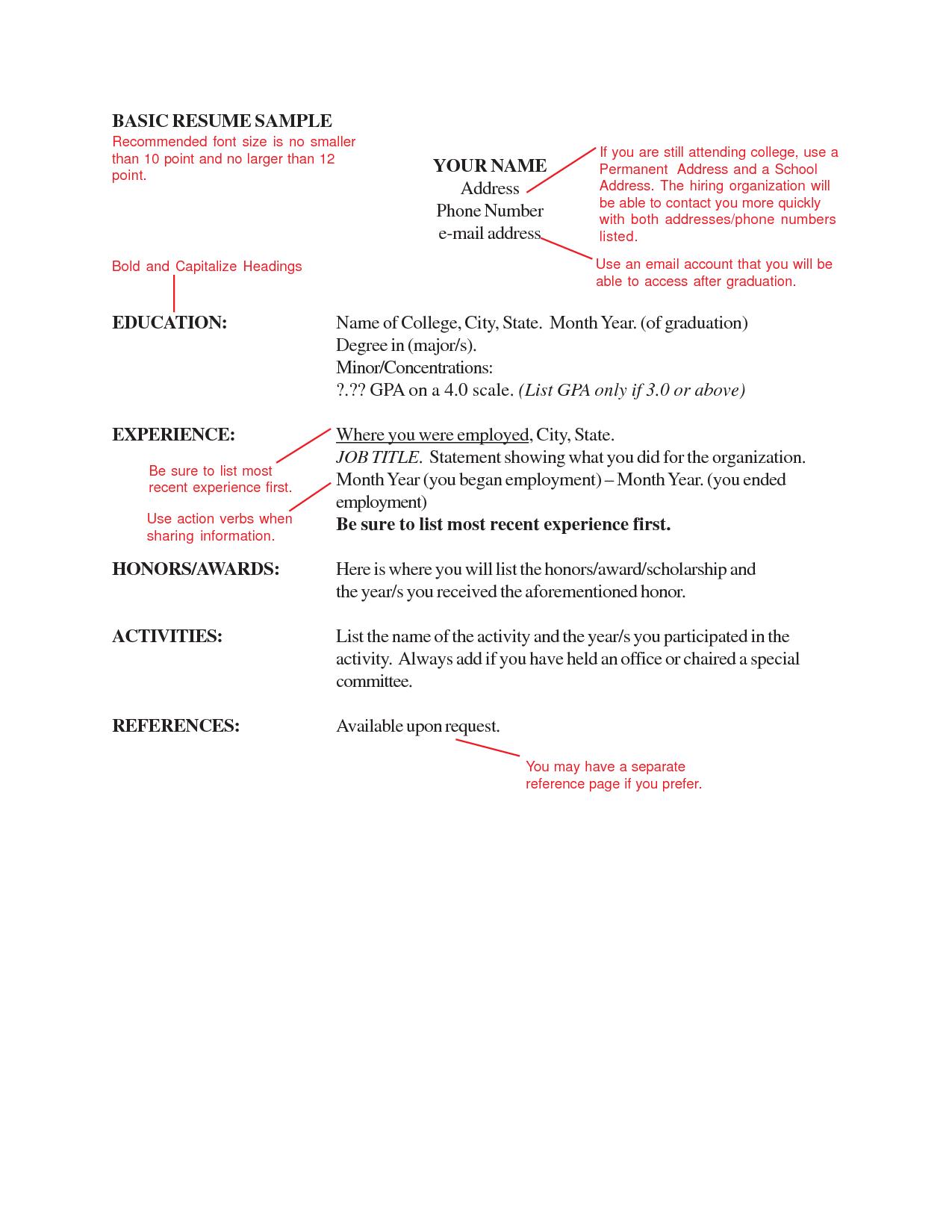 Resume Format Letter Size | Resume Format | Pinterest