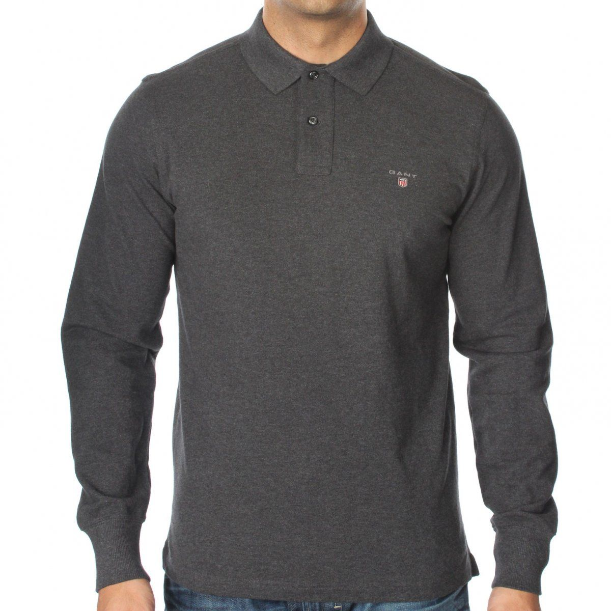 032b5218 Pin by The Menswear Site on Gant in 2019   Long sleeve polo, Polo t ...