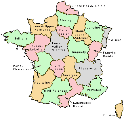 Map Of France Areas.Fyi Map Of The Regions Of France Maps France Map