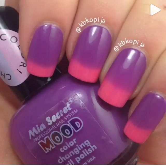 I Want This Kind Of Nail Polish It Changes Color Under Hot And Cold Water