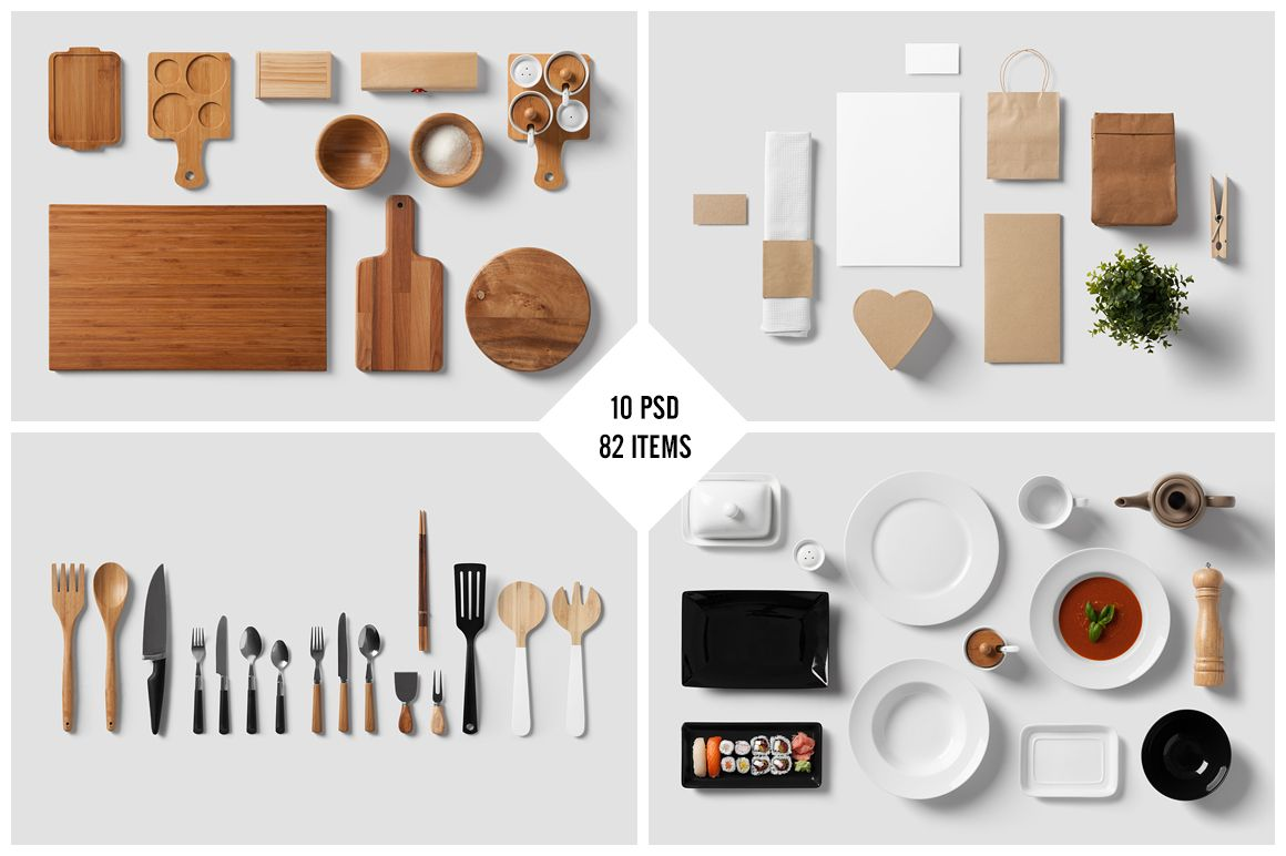 Restaurant food branding mock up by forgraphic™ on