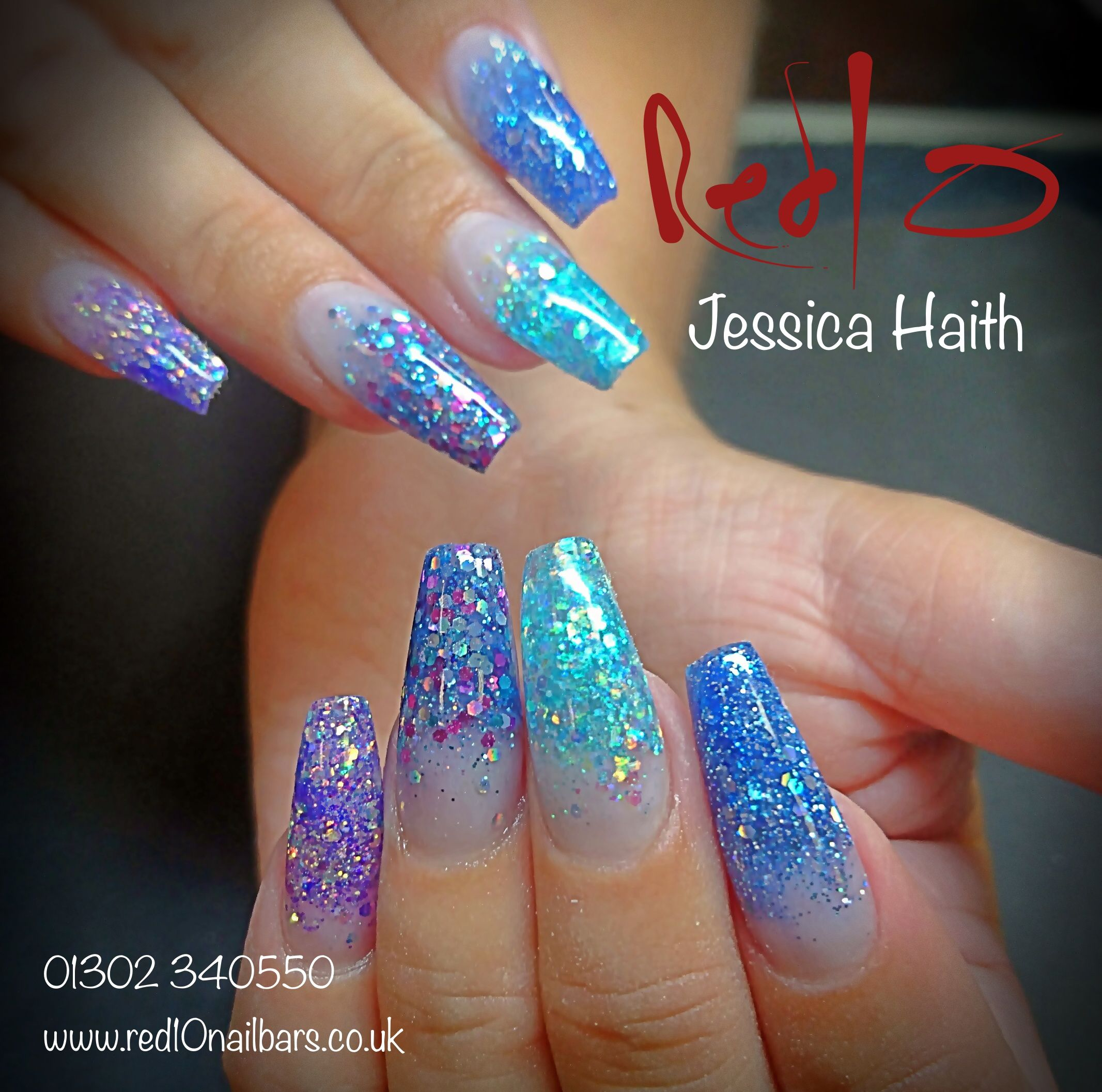 Acrylic Nails Glitter Nails Blue Nails Party Nails Prom Nails Nail Harmony Nail Harmony Blue Nails Prom Nails