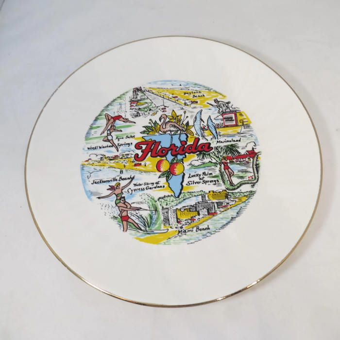 Vintage Florida Souvenir Plate - Collectible Home Decor, Mid Century ...